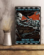 Skeleton Racing If One Day The Speed Kill Me 16x24 Poster lifestyle-poster-3