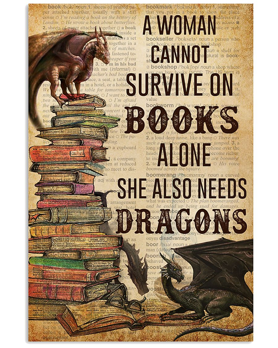 A Woman Survive On Books And Dragons 11x17 Poster