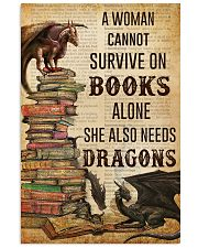 A Woman Survive On Books And Dragons 11x17 Poster front