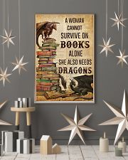 A Woman Survive On Books And Dragons 11x17 Poster lifestyle-holiday-poster-1