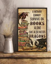 A Woman Survive On Books And Dragons 11x17 Poster lifestyle-poster-3