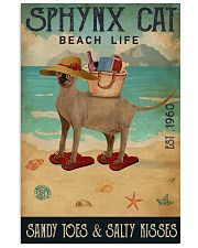 Beach Life Sandy Toes Sphynx cat 11x17 Poster front
