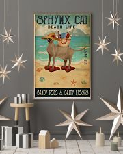 Beach Life Sandy Toes Sphynx cat 11x17 Poster lifestyle-holiday-poster-1