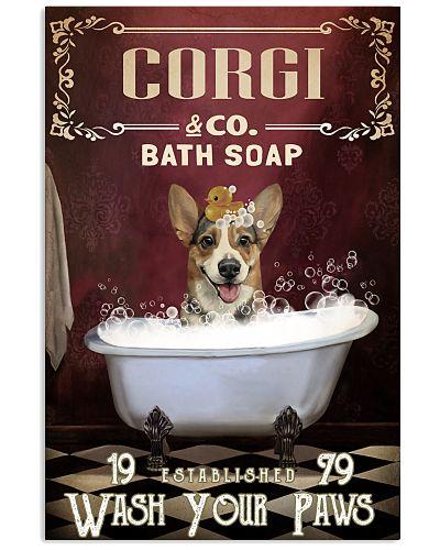 Red Bath Soap Corgi