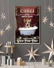 Red Bath Soap Corgi 11x17 Poster lifestyle-holiday-poster-1