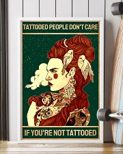 Retro Green Tattooed People Don't Care 11x17 Poster lifestyle-poster-4