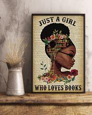 Who Loves Books Glasses Black Girl Reading 11x17 Poster lifestyle-poster-3