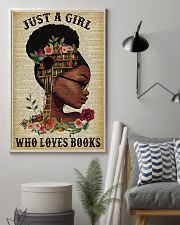 Who Loves Books Glasses Black Girl Reading 16x24 Poster lifestyle-poster-1