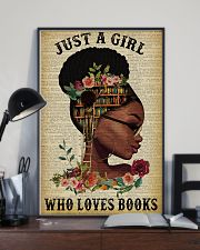 Who Loves Books Glasses Black Girl Reading 16x24 Poster lifestyle-poster-2