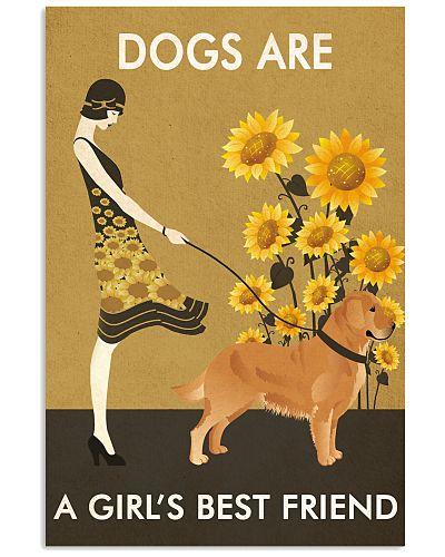 Sunflower Vintage Girl Love Is Golden Retriever