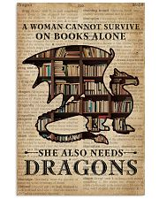 Survive On Books And Dragons 16x24 Poster front