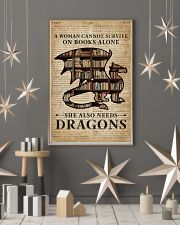 Survive On Books And Dragons 16x24 Poster lifestyle-holiday-poster-1