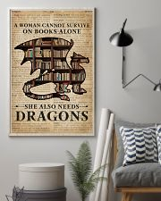 Survive On Books And Dragons 16x24 Poster lifestyle-poster-1