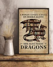 Survive On Books And Dragons 16x24 Poster lifestyle-poster-3