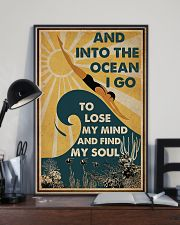 And InTo The Ocean I Go Swimming 11x17 Poster lifestyle-poster-2