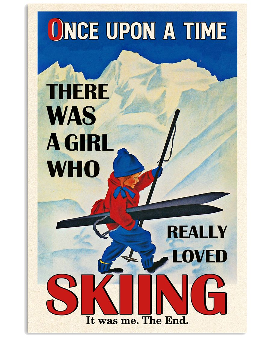 Once Upon A Time Skiing Red Haired Girl 16x24 Poster