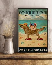 Beach Life Sandy Toes Golden Retriever 16x24 Poster lifestyle-poster-3