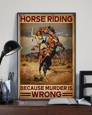 Horse Riding Because Murder Is Wrong 16x24 Poster lifestyle-poster-2
