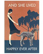Vintage Girl Lived Happily Irish Wolfhound 11x17 Poster front