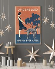Vintage Girl Lived Happily Irish Wolfhound 11x17 Poster lifestyle-holiday-poster-1