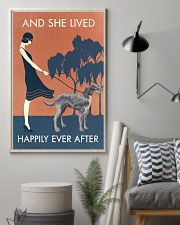 Vintage Girl Lived Happily Irish Wolfhound 11x17 Poster lifestyle-poster-1