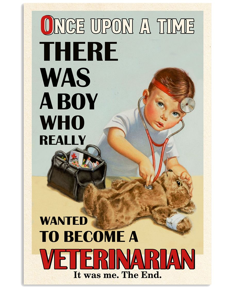 Once Upon A Time Veterinarian Boy 16x24 Poster