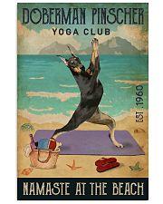 Beach Yoga Club Doberman Pinscher 11x17 Poster front