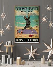 Beach Yoga Club Doberman Pinscher 11x17 Poster lifestyle-holiday-poster-1