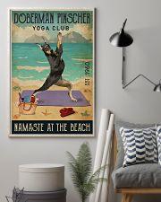 Beach Yoga Club Doberman Pinscher 11x17 Poster lifestyle-poster-1