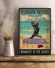 Beach Yoga Club Doberman Pinscher 11x17 Poster lifestyle-poster-3