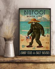 Beach Life Sandy Toes Bigfoot 11x17 Poster lifestyle-poster-3