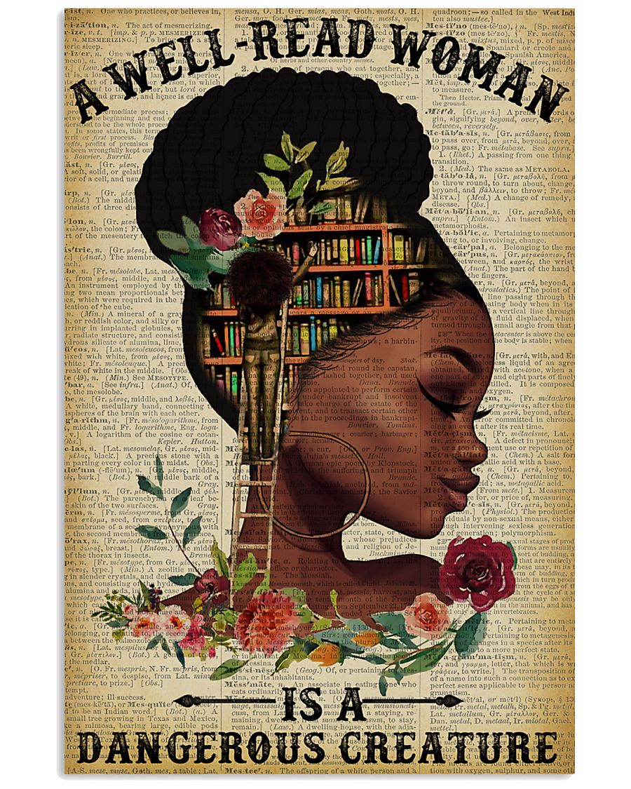Dangerous Creature Black Girl Reading 11x17 Poster
