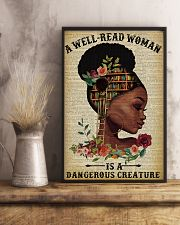 Dangerous Creature Black Girl Reading 11x17 Poster lifestyle-poster-3
