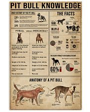 Pit Bull Knowledge 11x17 Poster front