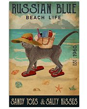 Beach Life Sandy Toes Russian Blue 11x17 Poster front