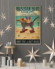Beach Life Sandy Toes Russian Blue 11x17 Poster lifestyle-holiday-poster-1