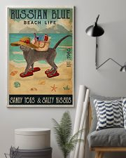 Beach Life Sandy Toes Russian Blue 11x17 Poster lifestyle-poster-1