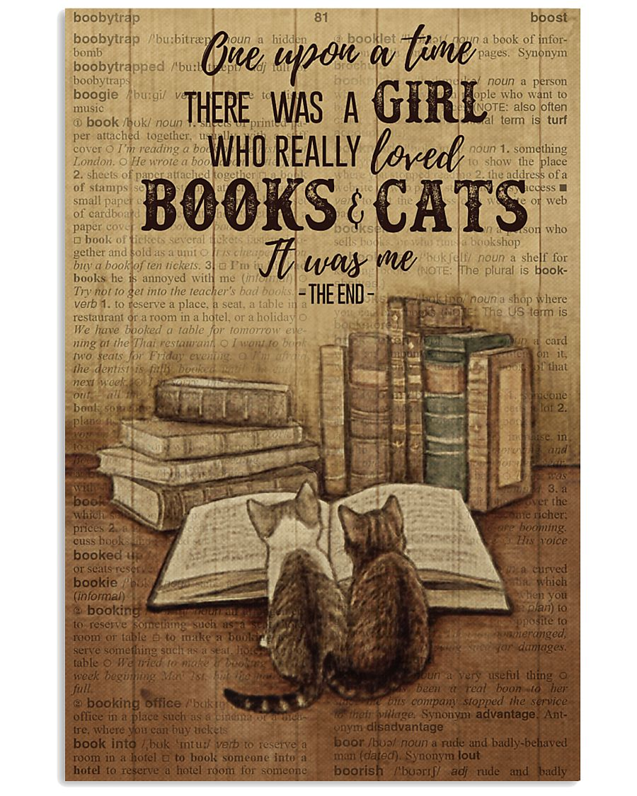Pallet Dictionary Books Cats Once Upon A Time 11x17 Poster