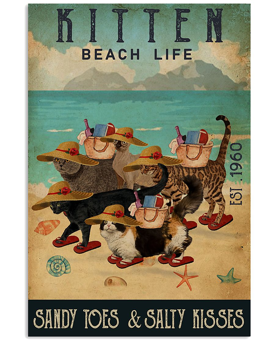 Beach Life Sandy Toes Kitten 11x17 Poster