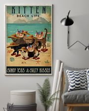 Beach Life Sandy Toes Kitten 11x17 Poster lifestyle-poster-1