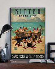 Beach Life Sandy Toes Kitten 11x17 Poster lifestyle-poster-2
