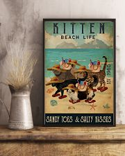 Beach Life Sandy Toes Kitten 11x17 Poster lifestyle-poster-3