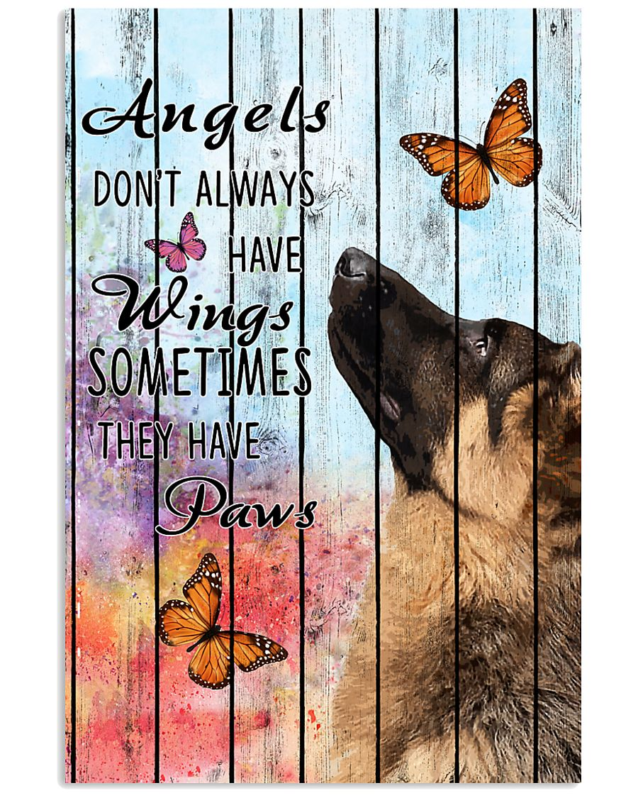 Pallet Angels Sometimes Have Paws German Shepherd 11x17 Poster