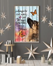Pallet Angels Sometimes Have Paws German Shepherd 11x17 Poster lifestyle-holiday-poster-1