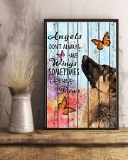 Pallet Angels Sometimes Have Paws German Shepherd 11x17 Poster lifestyle-poster-3