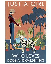 Vintage Just A Girl Loves Gardening And Dalmatian 11x17 Poster front