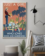 Vintage Just A Girl Loves Gardening And Dalmatian 11x17 Poster lifestyle-poster-1