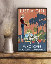 Vintage Just A Girl Loves Gardening And Dalmatian 11x17 Poster lifestyle-poster-3