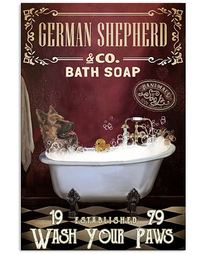 Red Supine Bath Soap German Shepherd