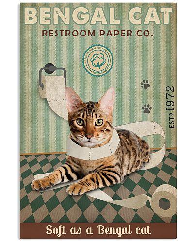 Green Restroom Paper Company Bengal Cat